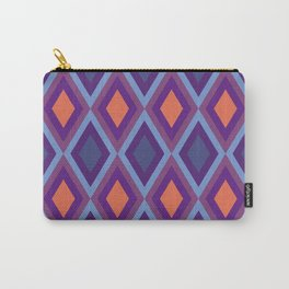 Purple And Blue Shade Diamond Geometric Patterns Carry-All Pouch