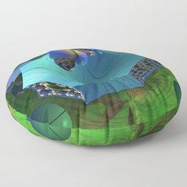 Slicing an Alien Organism Floor Pillow