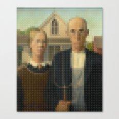 Lego: American Gothic Canvas Print