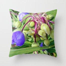 Spiderworts Flower Stems Throw Pillow
