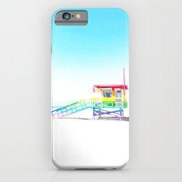 Venice Beach Rainbow Lifeguard Tower Pop Art iPhone Case
