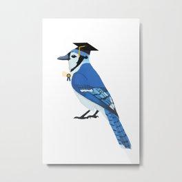 Graduation Blue Jay Metal Print
