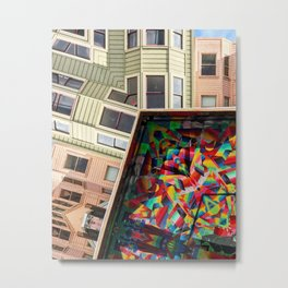 San Francisco home and mural Metal Print