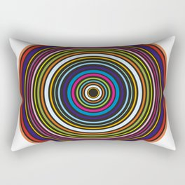 Colorful centered circles on white Rectangular Pillow