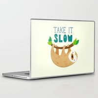 sloth Laptop & iPad Skins featuring Sloth by Claire Lordon