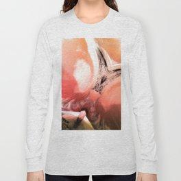 Rosa Rugosa Abstract Long Sleeve T-shirt