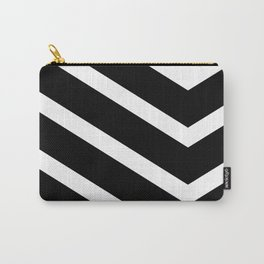 Black Chevron Carry-All Pouch