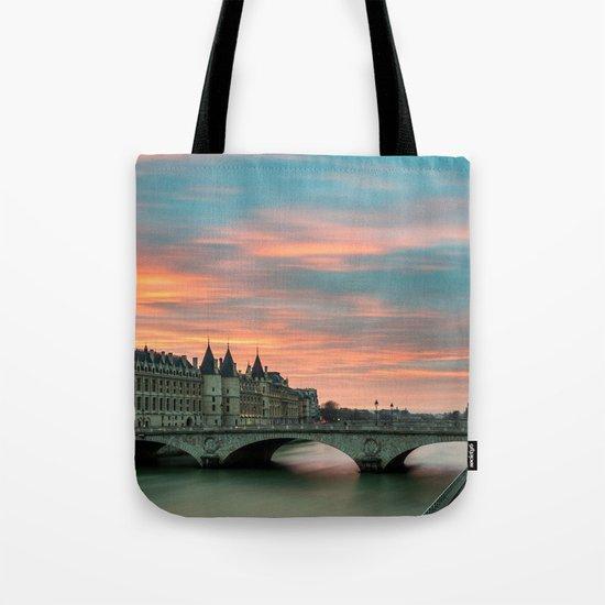 Paris by night France Tote Bag