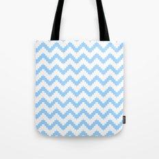 funky chevron blue pattern Tote Bag