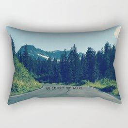 Go Explore the World Rectangular Pillow