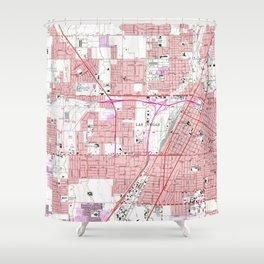 Vintage Map of Las Vegas Nevada (1967) 3 Shower Curtain