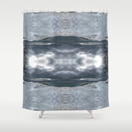 Lake Michigan - Frozen Beach - Northern Michigan - Up North - frozen waves - Frankfort Shower Curtain
