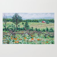 farm Area & Throw Rugs featuring Gettysburg Farm by Ann Marie Coolick