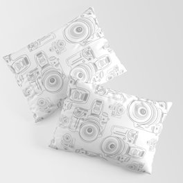 Grey Cameras Pillow Sham