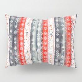 Baltic Bohemian Pattern - Red Grey Pillow Sham