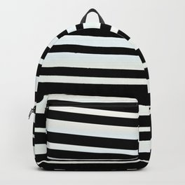 JUVIE - modern take on classic black and white stripes Backpack