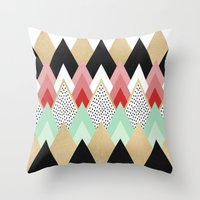 princess Throw Pillows featuring Princess by Elisabeth Fredriksson