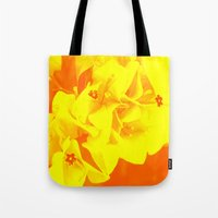ali gulec Tote Bags featuring Ali orange by Keren Shiker