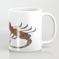 tatoo Mugs featuring Tatoo Scorpion by PepperDsArt