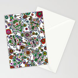 Day Of The Dead Sugar Skulls Key And Locks Stationery Cards