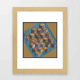 Tumbling Blocks #5 Framed Art Print