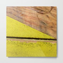 #85Photo #95 #YellowFound4 #BeautifulSolitude #Textures #Wood #Paint Metal Print