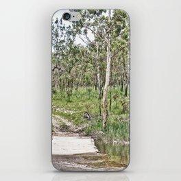 Rustic water crossing iPhone Skin
