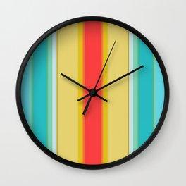 sandcastle deckchair stripe Wall Clock