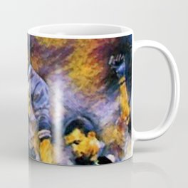 African American Classic Tommie Smith and John Carlos Black Power Olympic Protest Portrait Coffee Mug