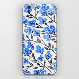 Cherry Blossoms – Blue Palette iPhone Skin