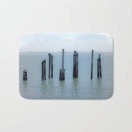 Tokeland, Willapa Bay, Washington Pier, River Pilings Bath Mat