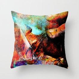 La Barca ( collaboration with the talented artist design Ganech Joe) Throw Pillow