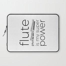 Flute is my super power Laptop Sleeve