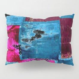 Blue pink square Pillow Sham