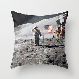 Apollo 15 - Military Salute Throw Pillow