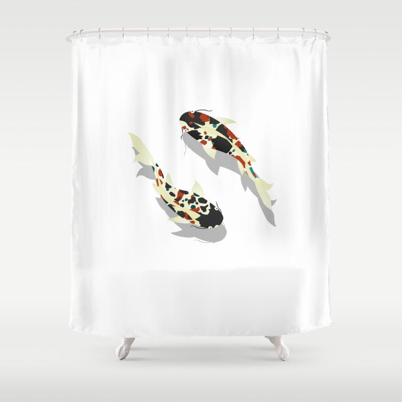 Koi Fish Shower Curtain By Rceeh Society6