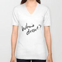 dessert V-neck T-shirts featuring when's dessert by whensdessert