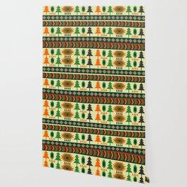 Ethnic traditional Christmas decor Wallpaper