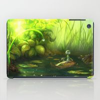 neil gaiman iPad Cases featuring Solitude through the leaves, by Neil Price by Neil Price