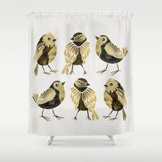 24-Karat Goldfinches Shower Curtain