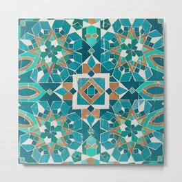 Moroccan Tile - Casablanca Zellige II Metal Print