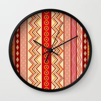 tribal Wall Clocks featuring Tribal by Julscela