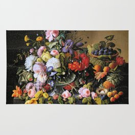 Vintage Varnish- Flowers&Fruit Rug