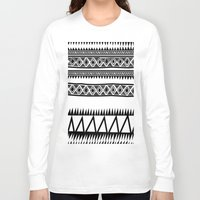 zebra Long Sleeve T-shirts featuring MALOU ZEBRA by Aztec