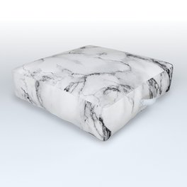 White Marble Texture Outdoor Floor Cushion