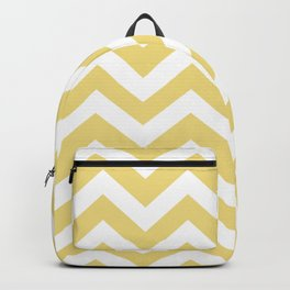 Buff - yellow color - Zigzag Chevron Pattern Backpack