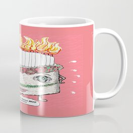 Why is it so damn HOT in here?!!! pink Coffee Mug
