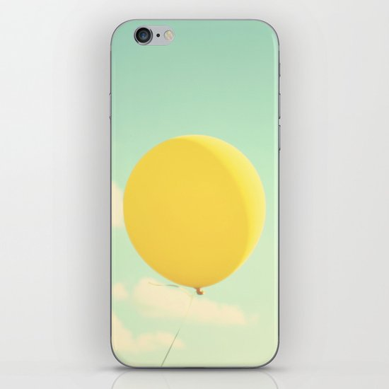 yellow balloon iPhone & iPod Skin