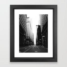 Chicago Street Framed Art Print