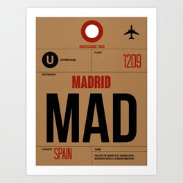 MAD Madrid Luggage Tag 2 Art Print